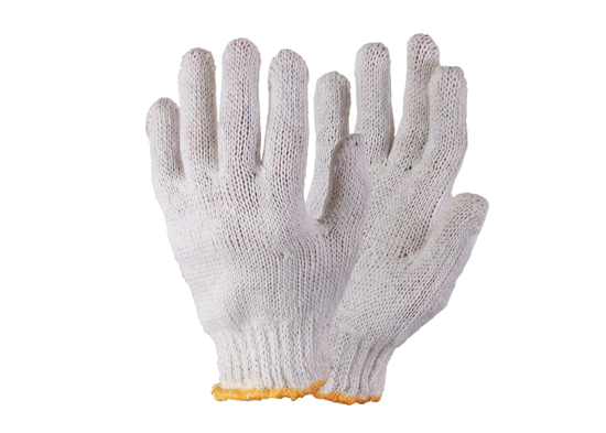 Picture of Knitted Seamless Bleach White Cotton Gloves