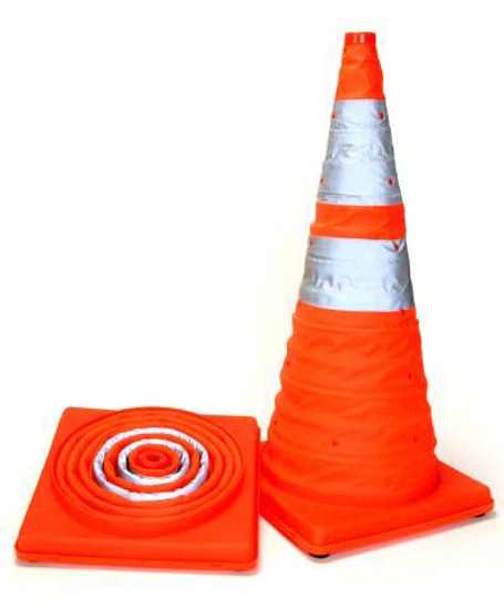 Picture of Light weight and fold able traffic cone AB-A55