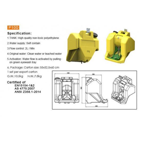 Picture of P100 16 Gallon Portable EyeWash