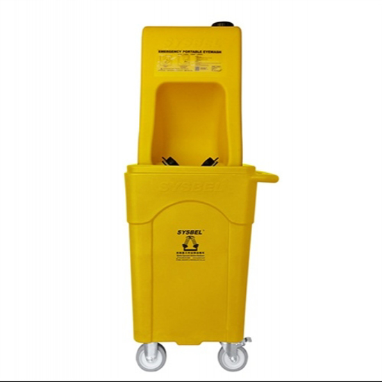 Picture of SYSBEL Protable Eyewash with Mobile Waste Cart WG6000AD