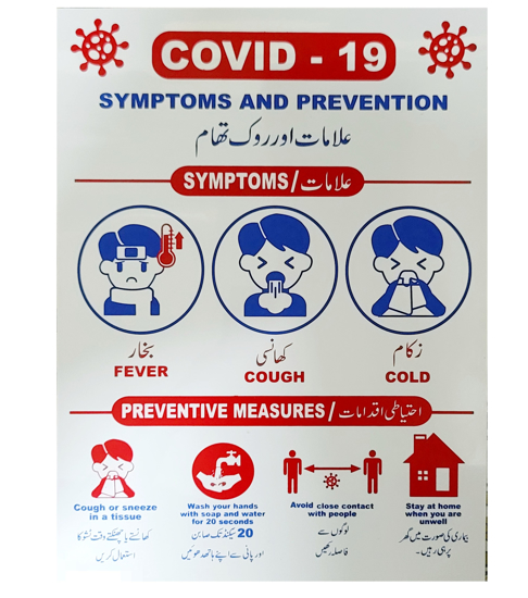 Picture of Covid 19 Symptoms & Preventive Measures Safety Sign