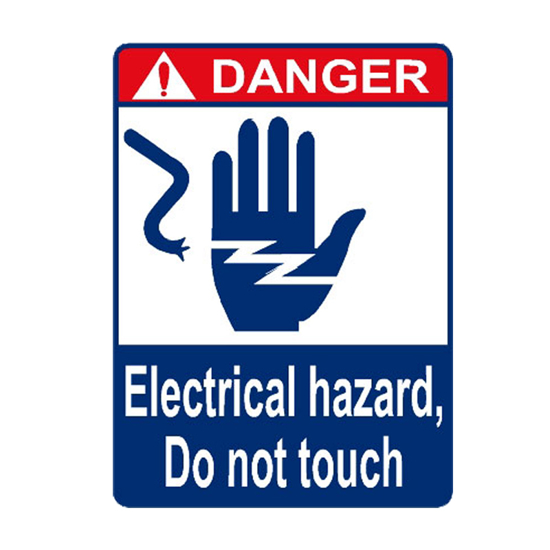 Picture of Danger Electrical Hazard Do Not Touch Sign
