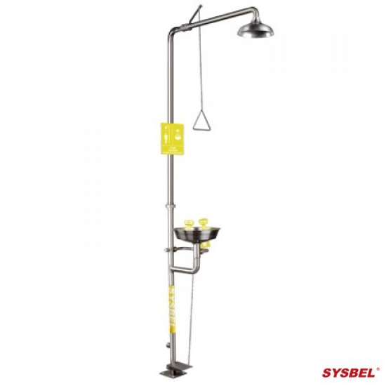 Picture of SYSBEL WG7053F Safety Equipment SS Drench Shower Combination Units with Eye and Face Wash