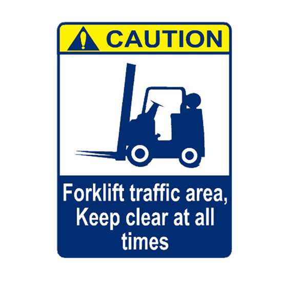 Picture of Caution Forklift Traffic Area Keep Clear At All Sign