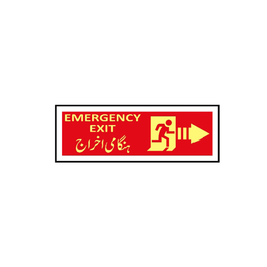 Picture of Emergency Exit Sign ( right arrow )