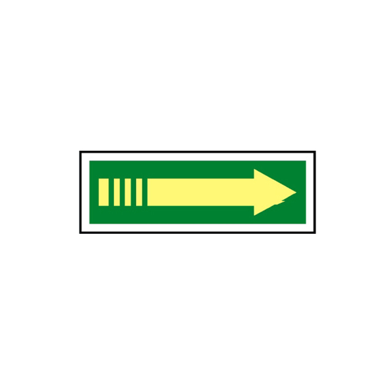 Picture of Exit Arrow (right) Sign