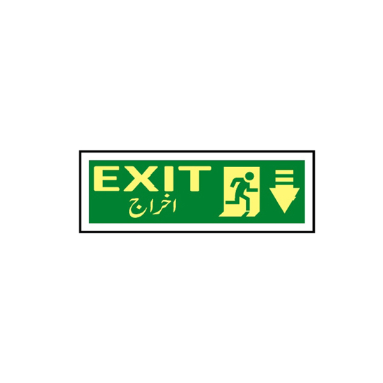 Picture of Exit Sign ( arrow down)