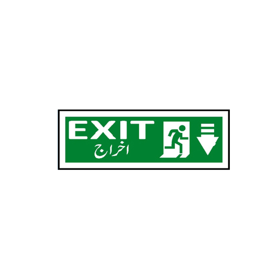 Picture of Exit Sign ( down arrow )