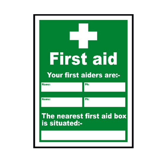 Picture of First Aid Guide Sign