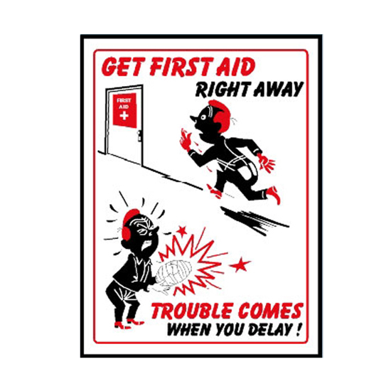 Picture of First Aid Precaution Sign