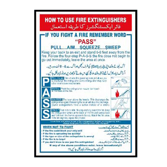 Picture of How To Use Fire Extinguisher Sign