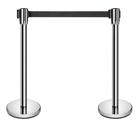 Picture of Crowd Control Barrier Retractable Queue Pole