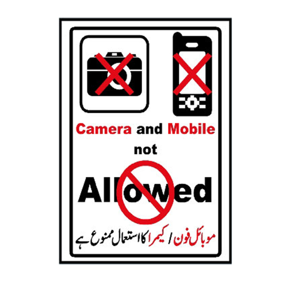 Picture of Camera And Mobile Not Allowed Sign