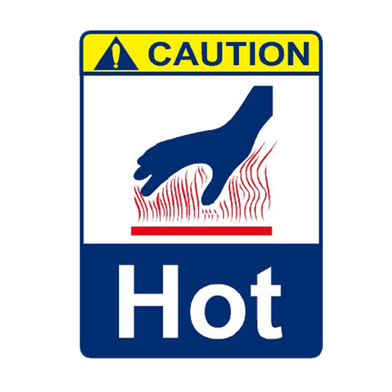 Picture of Caution Hot Sign