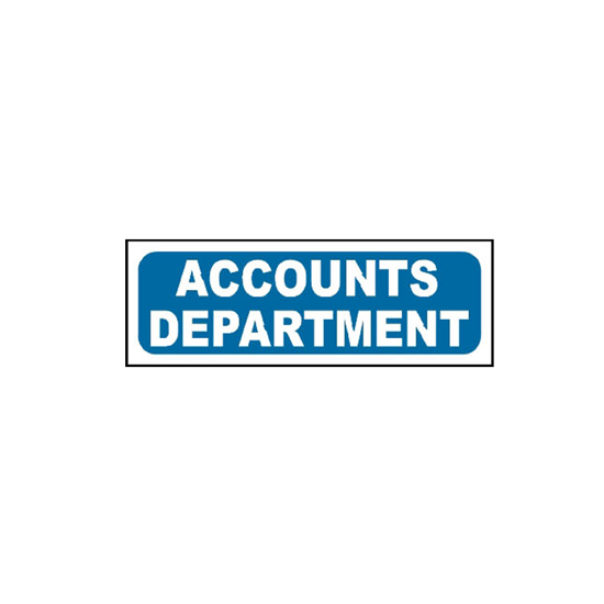 Picture of Accounts Department Sign