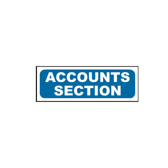 Picture of Accounts Section Sign