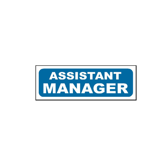 Picture of Assistant Manager Sign