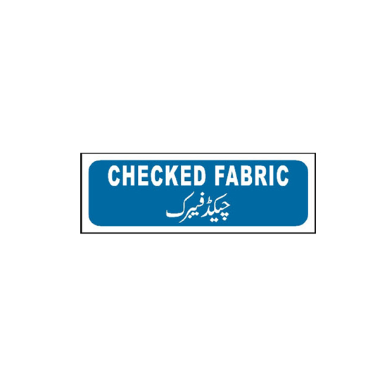 Picture of Checked Fabric Sign