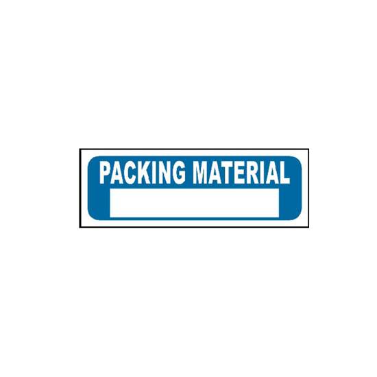 Picture of Packing Material Sign