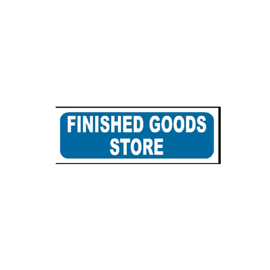 Picture of Finished Goods Store Sign