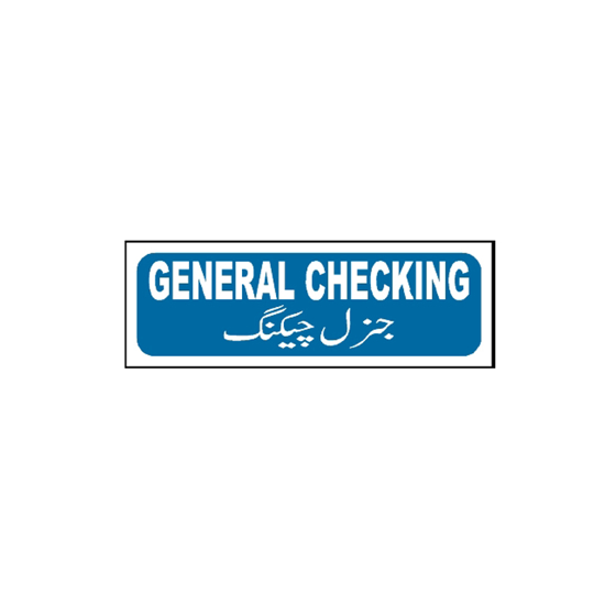 Picture of General Checking Sign