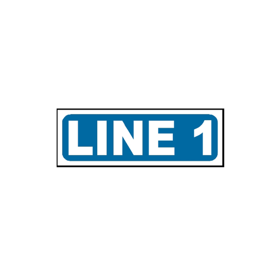Picture of Line 1 Sign