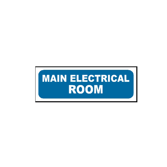 Picture of Main Electrical Room Sign