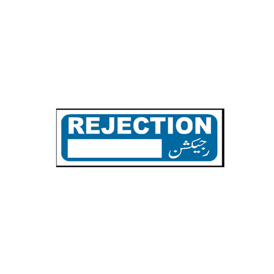 Picture of Rejection Sign