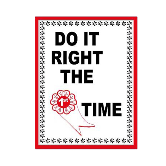 Picture of Do It Right The Time Sign