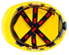 Picture of 3M H-702R Yellow Hard Hat With Uvicator And 4-Point Ratchet Suspension