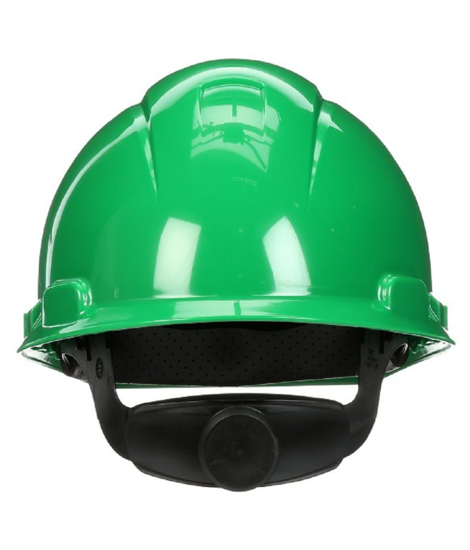Picture of 3M 078371-64200 H-704R Green Hard Hat 4-Point Ratchet Suspension