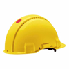 Picture of 3M G3000NUV-GU Safety Uvicator, Ratchet And Ventilated Yellow Helmet