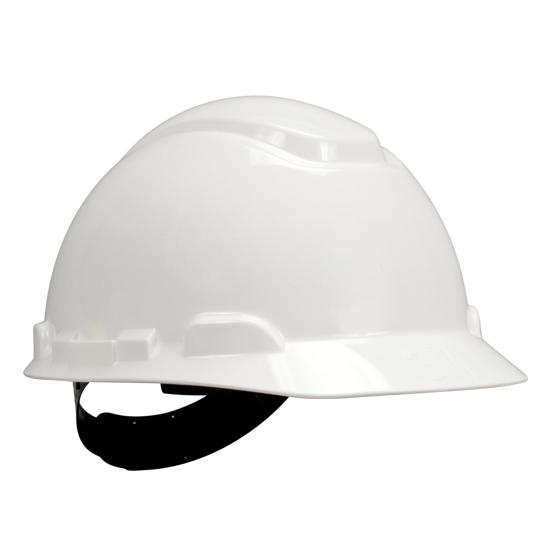 Picture of 3M 10078371641877 H-701P White Hard White Hat With  4 Point Pin Lock Suspension