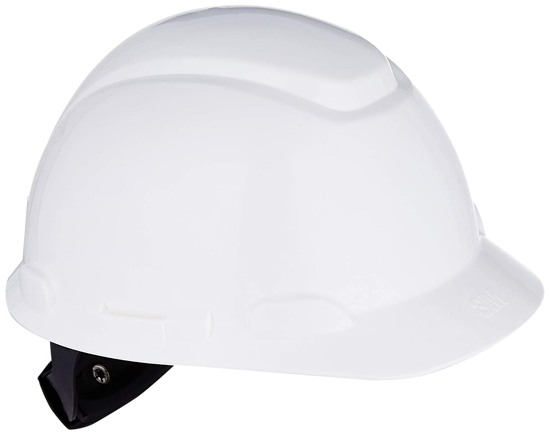 Picture of 3M H-701R White Hard Hat With 4 Point Ratchet Suspension