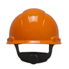 Picture of 3M H-706R Orange Hard Hat With 4-Point Ratchet Suspension