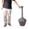 Picture of Sysbel CBR8101 Grey Cigarette Butts Receptacle, Umbrella-shaped Covered head, Cigarette Disposal