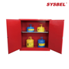 Picture of Sysbel WA810300R Fireproof Combustible Storage Cabinet Red