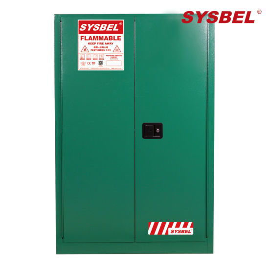 Picture of Sysbel WA810450G Safety Pesticides Cabinets, Double Manual-close Door, Green