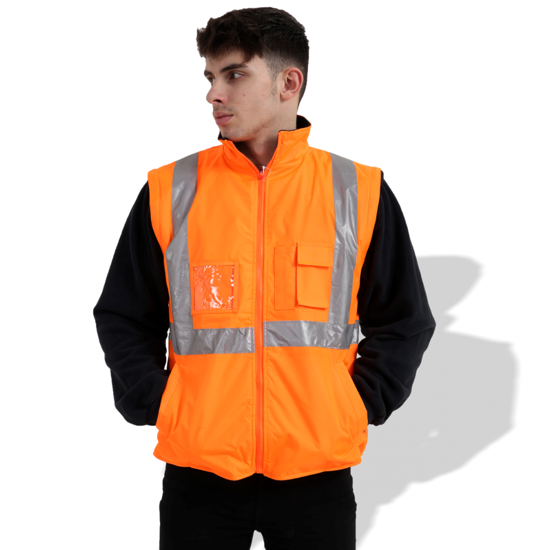 Picture of FP1652 Fluorescent Parka with Reflective Tape