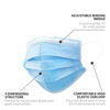 Picture of 3-Ply Premium Layer Protective Disposable Face Masks with Melt-Blown Fabric