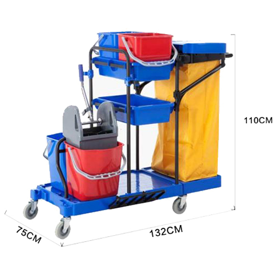 Picture of 8173- Heavy Duty Multi-function Commercial Cleaning Trolley with Wringer and Buckets